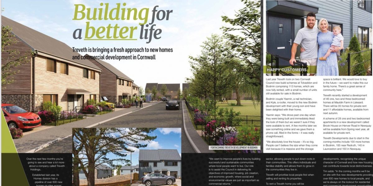 Business Cotnwall Treveth article 1200x600 - Read about us in Business Cornwall magazine